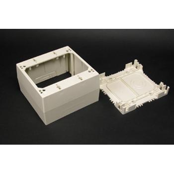 Wiremold 2344 Non-Metallic Ivory Extra Deep Device Box