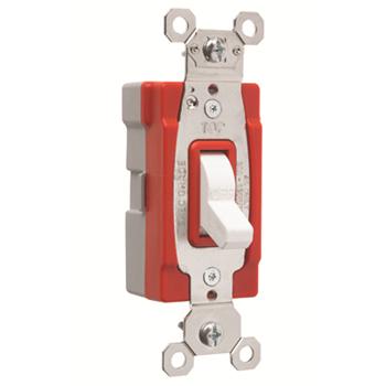 Pass & Seymour PT20AC1-W 20 Amp 120/277 VAC 1-Pole White Glass Reinforced Nylon Screw Mounting Toggle Switch