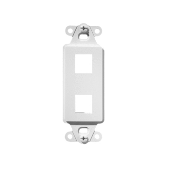 On-Q WP3412-WH 1.65 x 0.28 x 4.19 Inch 2-Port White Plastic Wall Box Mounting Non-Flexible Outlet Strap