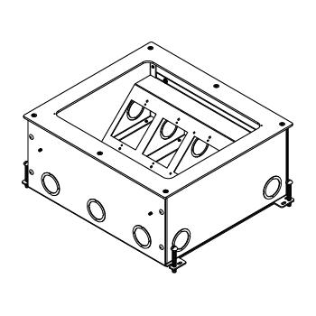 Wiremold RFB11-OG 6 Inch 11-Gang Steel Rectangular Floor Box