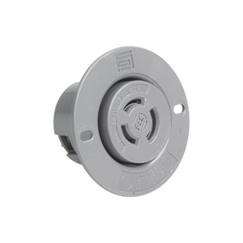 Non-NEMA 3 Wire Flanged Outlet, Gray 7557SS