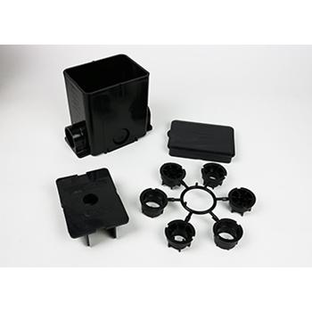 "Wiremold 880MP 5-1/2 x 4-1/8 x 6"" 100 In? 1-Gang Non-Metallic Rectangular Floor Box"
