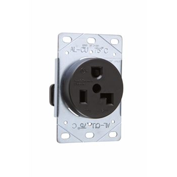 Pass & Seymour 3802 30 Amp 125 VAC 2-Pole 3-Wire NEMA 5-30R Flush Mount Straight Blade Power Receptacle