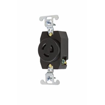 Pass & Seymour 4760 15 Amp 277 VAC 2-Pole 3-Wire NEMA L7-15R Nylon Locking Single Receptacle