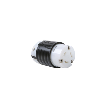 20 Amp NEMA Connector L720 - Black Back, White Front Body L720C