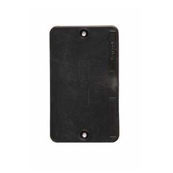 P&S 3054BK 1G BLACK BLANK COVER PLA
