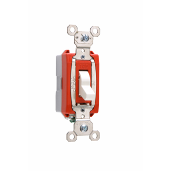 Pass & Seymour PS20AC1-ISL 20 Amp 120/277 VAC 1-Pole Ivory Glass Reinforced Nylon Screw Mounting Lighted Toggle Switch