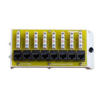 8 Port Cat6 Network Interface Module AC1068