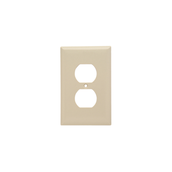 Pass & Seymour SPJ8-I 1-Gang 1-Duplex Ivory Smooth Thermoset Plastic Junior-Jumbo Wallplate