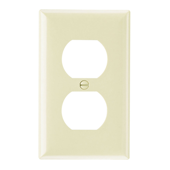 Pass & Seymour SP8-I 1-Gang 1-Duplex Ivory Smooth Thermoset Plastic Standard Wallplate