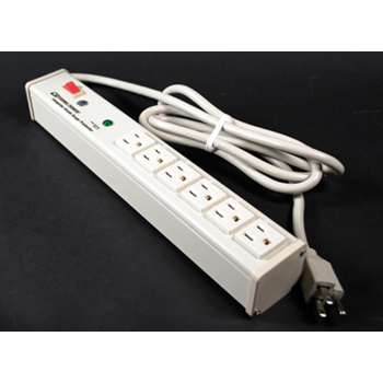 Plug-In Outlet Center Unit / 120V/15A/6 O/L /lighted switch/6' cord/Computer Grade Surge M6BZ