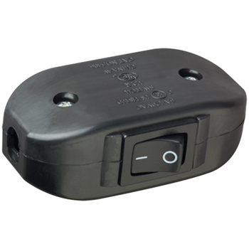 Mayer-Appliance Switch, Black 5406BK-1