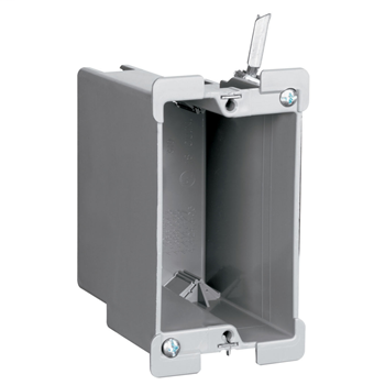 """Pass & Seymour S1-18-W 3-3/4 x 2-1/4 x 3-1/32"""" 18"""" 1-Gang Thermoplastic Switch and Outlet Box"""