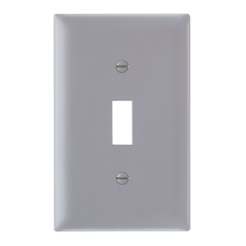 Pass & Seymour TP1-GRY 1-Gang 1-Toggle Switch Gray Nylon Standard Unbreakable Wallplate