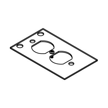 WLK CRFB-D-4 CRFB DUPLEX REC PLATE