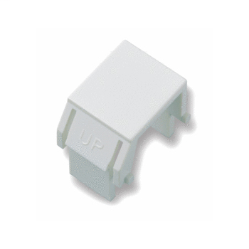 PS WP3455-WH Blank Keystone Insert,White (Bag Of 10)