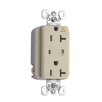 Pass & Seymour IG5362ISP 20 Amp 125 VAC 2-Pole 3-Wire NEMA 5-20R Ivory Nylon Duplex Isolated Ground Receptacle