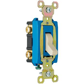 Pass & Seymour CSB15AC2-W 15 Amp 120/277 VAC 2-Pole White Glass Reinforced Nylon Screw Mounting Toggle Switch