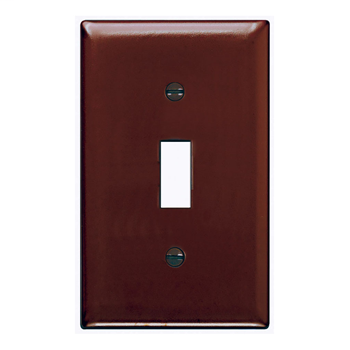 Pass & Seymour TP1 1-Gang 1-Toggle Switch Brown Nylon Standard Unbreakable Wallplate