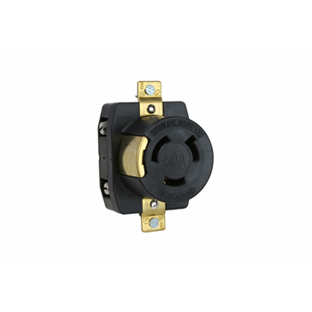 Pass & Seymour 3771 50 Amp 600 VAC/250 VDC 2-Pole 3-Wire Corrosion-Resistant Single Receptacle