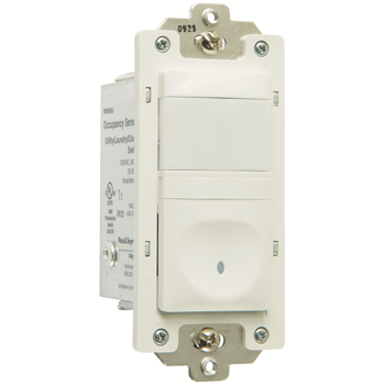 Pass & Seymour RW500U-WCC4 Single Pole Occupancy Sensor, 2wire 500W - White