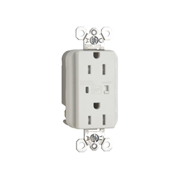 Pass & Seymour TR5262WSP Tamper Resistant Extra Heavy Duty Surge Protective White Duplex Receptacle