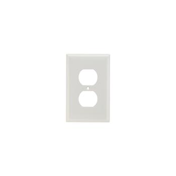 Pass & Seymour SPJ8-W 1-Gang 1-Duplex White Smooth Thermoset Plastic Junior-Jumbo Wallplate