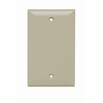 Blank Plates -- Box Mounted, One Gang, Ivory SP13I
