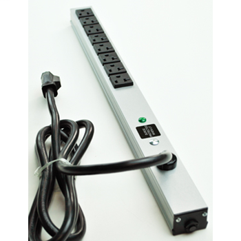 "CabinetMate Plug-In Outlet Center Unit / 120V/20A / 20"" long / 8 O/L / 15' cord / Computer Grade Surge 2008BDS20R"