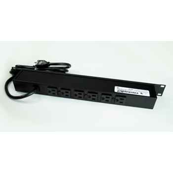 Plug-In Outlet Center Unit / Rack Mount 120V/15A/6 rear O/L /lighted switch/6' cord/Premium Grade Surge R5S