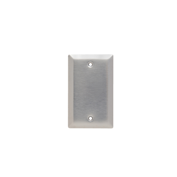Pass & Seymour SL13 1-Gang Smooth Brushed 430 Stainless Steel Standard Wallplate