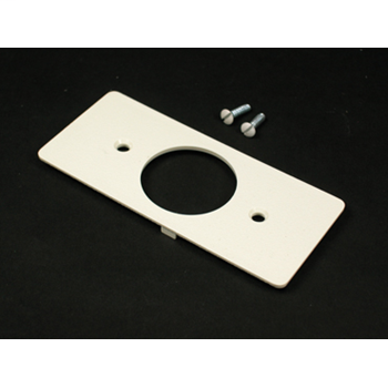 Wiremold 5507T2 Non-Metallic Single Receptacle Ivory Faceplate