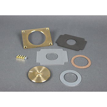 "Wiremold 829CK-3/4 2-5/8 x 3/4"" Brass Floor Box Communication Cover Plate"