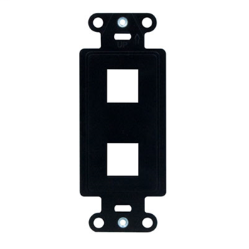 On-Q WP3412-BK 1.65 x 0.28 x 4.19 Inch 2-Port Black Plastic Wall Box Mounting Non-Flexible Outlet Strap