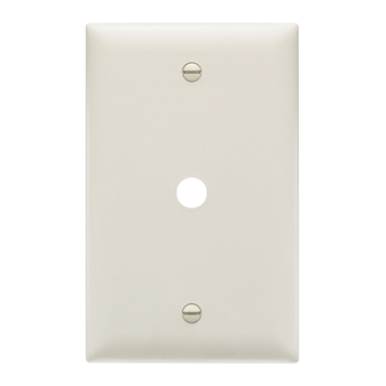 Pass & Seymour TP11-LA 1-Gang 1-Telephone/Cable Outlet Light Almond Nylon Standard Unbreakable Communication Wallplate