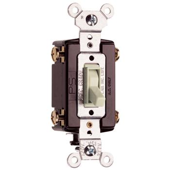 Pass & Seymour 664-LAG 15 Amp 120 VAC 4-Way Light Almond Thermoplastic Screw Mounting Grounding Toggle Switch