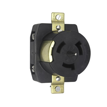 Pass & Seymour CS8169 50 Amp 480 VAC 3-Phase 4-Wire Non-NEMA Nylon Locking Receptacle