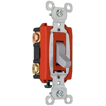 Pass & Seymour CSB20AC3-GRY 20 Amp 120/277 VAC 3-Way Gray Glass Reinforced Nylon Screw Mounting Toggle Switch
