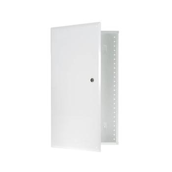 On-Q EN2050 14.3 x 3.7 x 20.1 Inch Powder Coated Glossy White Hinged Cover Enclosure