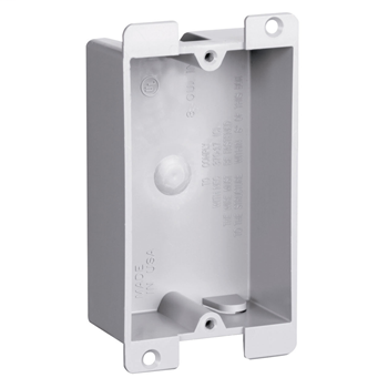 Pass & Seymour P1-08-W 3.75 x 2.31 x 1.12 Inch 8 In Plastic 1-Gang Shallow Switch and Outlet Box