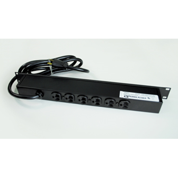 Plug-In Outlet Center Unit / Rack Mount 120V/20A/6 rear O/L /lighted switch/15' cord/Computer Grade Surge R5BZ20X-15