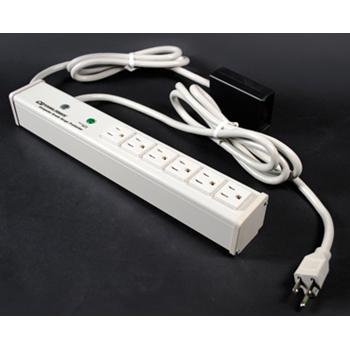 Plug-In Outlet Center Unit / 120V/15A/6 O/L /remote lighted switch/15' cord/Computer Grade Surge M6BZR-15