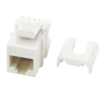 Mayer-Cat 5e Quick Connect RJ45 Keystone Insert, White WP3475-WH-1
