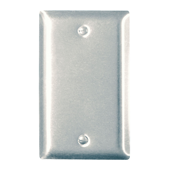 Pass & Seymour SS13 1-Gang Blank Smooth Brushed Stainless Steel Standard Wallplate