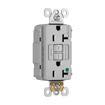 Mayer-PlugTail® Hospital-Grade 20A Self-Test GFCI Receptacle, Gray PT2097HGGRY-1