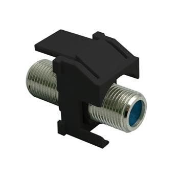 On-Q WP3481-BK Black Plastic Recessed Nickel Self-Terminating F-Video Insert