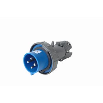 Pass & Seymour PS430P9-W 30 Amp 250 VAC 3-Phase 3-Pole 4-Wire Blue Nylon Watertight Pin and Sleeve Plug