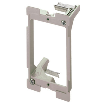 On-Q AC1010-01 3.75 Inch 1-Gang Gray Smooth Flame Retardant Plastic In-Wall Mount Low Voltage Retrofit Bracket