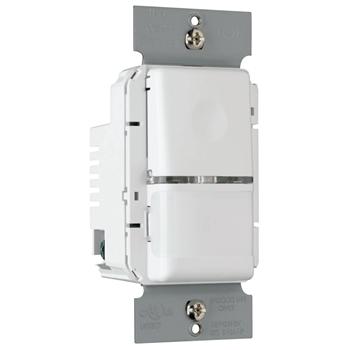 Pass & Seymour OS300-SW 1.76 x 1.83 x 2.73 Inch 120/230/277 VAC White Passive Infrared Occupancy/Vacancy Sensor