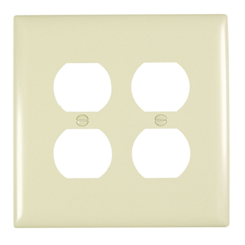 Duplex Receptacle Openings, Two Gang, Ivory TPJ82I
